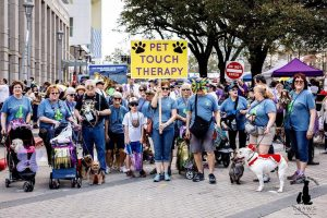 pet touch therapy parade in baton rouge